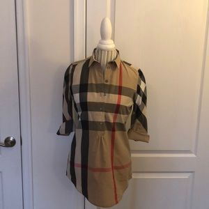 NWOT Burberry Brit Tunic Nova Check S